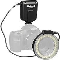 Polaroid Macro LED Flash y luz de anillo para Canon Digital EOS Rebel SL1 (100D), T5i (700D), T5 (1200D), T4i (650D), T3 (1100D), T3i (600D), T1i (500D), T2i ( 550D), XSI (450D), XS (1000D), XTI (400D), XT (350D), 1D C, 70D, 60D, 60Da, 50D, 40D, 30D,