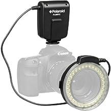 Polaroid Macro LED Ring Flash & Light For The Canon Digital EOS Rebel SL1 (100D), T5i (700D), T5 (1200D), T4i (650D), T3 (1100D), T3i (600D), T1i (500D), T2i (550D), XSI (450D), XS (1000D), XTI (400D), XT (350D), 1D C, 70D, 60D, 60Da, 50D, 40D, 30D, 20D, 10D, 5D, 1D X, 1D, 5D Mark 2, 5D Mark 3, 7D, 7D Mark 2, 6D Digital SLR Cameras (Will Fit 52,55,58,62,67,72,77mm Lenses)