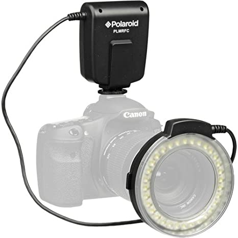 Polaroid Macro LED Ring Flash & Light For The Canon Digital EOS Rebel SL1 (100D), T5i (700D), T5 (1200D), T4i (650D), T3 (1100D), T3i (600D), T1i (500D), T2i (550D), XSI (450D), XS (1000D), XTI (400D), XT (350D), 1D C, 70D, 60D, 60Da, 50D, 40D, 30D, 20D, 1