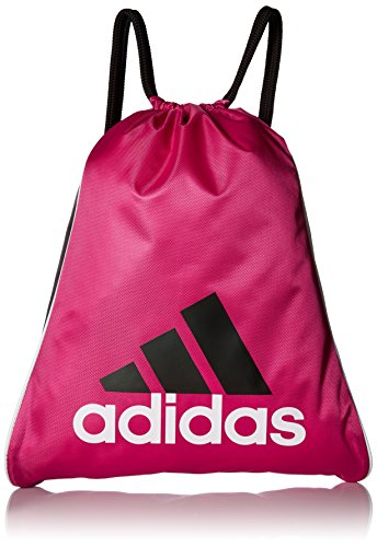 adidas Burst Sackpack, Radiant Pink, 18 x 14.25-Inch