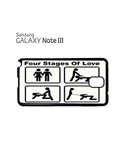 Four Stages of Love Mobile Cell Phone Case Samsung Note 3 Black