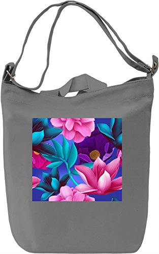Flowers Full Print Borsa Giornaliera Canvas Canvas Day Bag| 100% Premium Cotton Canvas| DTG Printing|