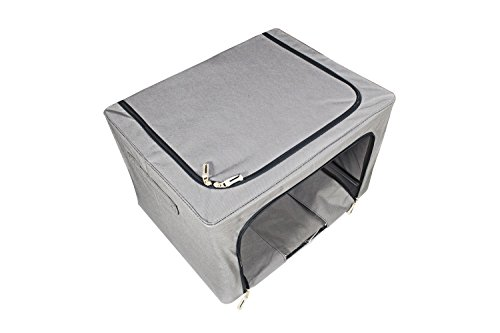 haehne faltbare aufbewahrungsbox stoff mit deckel cube 66l reine farbe ebay. Black Bedroom Furniture Sets. Home Design Ideas