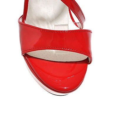 LvYuan Mujer-Tacón Stiletto-Otro-Sandalias-Exterior Oficina y Trabajo Informal-PU-Negro Rojo Blanco Plata Oro White