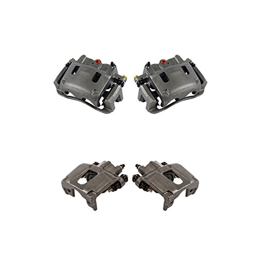 CCK01206 FRONT + REAR [ 4 ] Premium Grade Semi-Loaded OE Caliper Assembly Set Kit