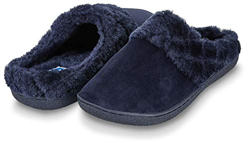 f9729063084 Floopi Womens Indoor Outdoor Soft Velour Quilted Fur Lined Clog Slipper  W Memory Foam (