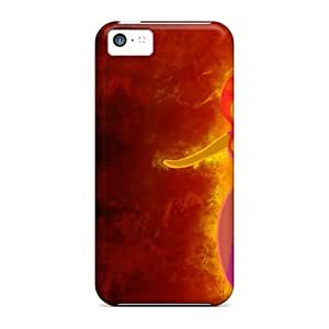 DateniasNecapeer Iphone 5c Hybrid Cases Covers Bumper Flame Princess Adventure Time