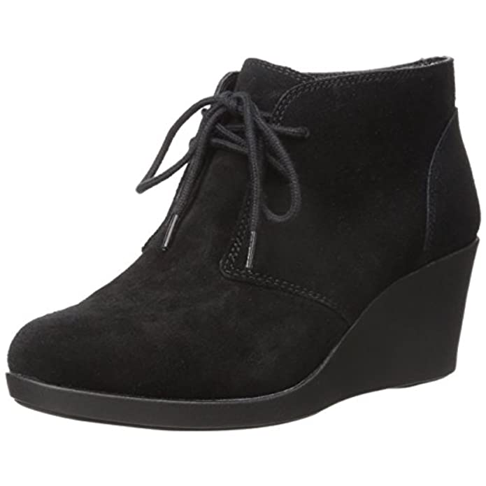 Crocs Leigh Suede Wedge Shootie Black