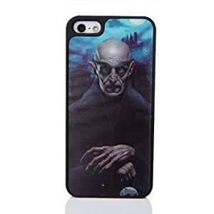 Enfain® 3D Effect Skulls Design Hard Protector Case Cover for Iphone 4 4S - Different Angles Different Images (3D Skull&Blue)