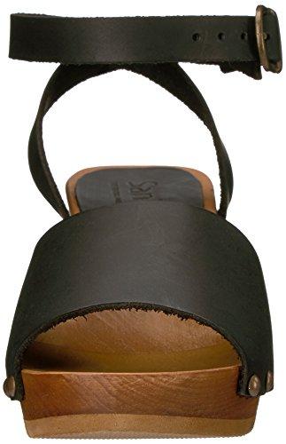 Black Flex Yara Square Sanita Women's Sandal Platform BTqnYxn