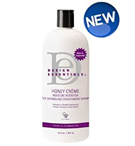 Design Essentials Honey Creme Moisture Retention Super Detangling Conditioning Shampoo, 32 Ounce