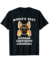 World's Best German Shepherd Grandma Dog Granddog T-Shirt