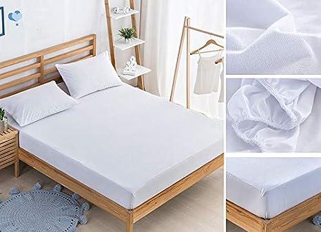 mingmeng86 colchón y sábana Bajera Impermeable y Transpirable 100% algodón Protectora de colchón higiénico y Dulce antiácaros, Azul, 150 * 200CM: Amazon.es: ...