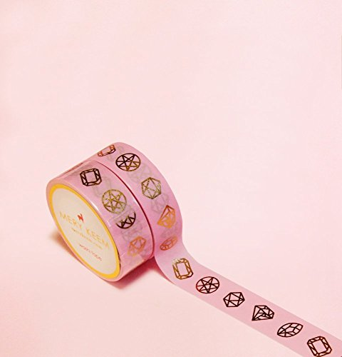 Diamonds Shapes in Gold Foil Washi Tape for Planning • Scrapbooking • Arts Crafts • Office • Party Supplies • Gift Wrapping • Colorful Decorative • Masking Tapes • DIY from MERYKEEM