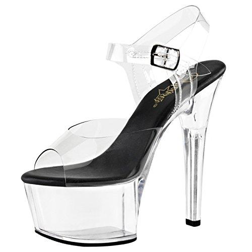 Heels-Perfect - Plataforma Mujer transparente