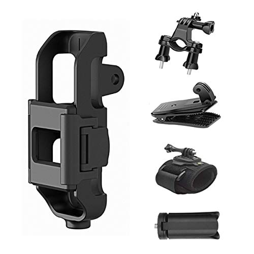 Kuxiu Protective Frame Bracket w/Bike Handlebar Mount, Backpack Clip, Wrist Strap Mount and Mini Tripod Expansion Kits Compatible for DJI Osmo Pocket Gimbal Stabilizer