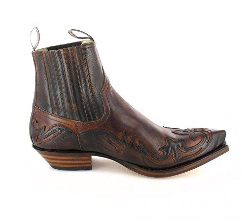 Sendra Botas Vaquero Boots Tan 4660 de Marron cuero De hombre CrqrwEI