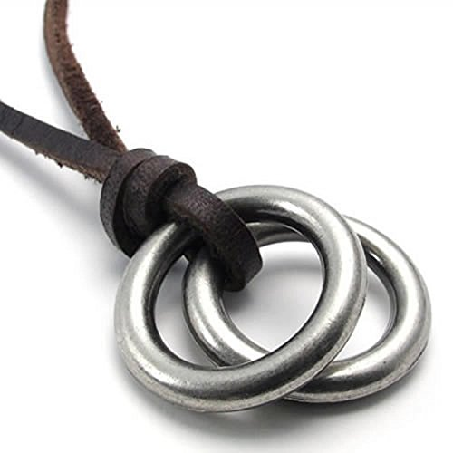 Fashion chain alloy leather sweater chain necklace men's accessories ladies accessory ring necklace ring