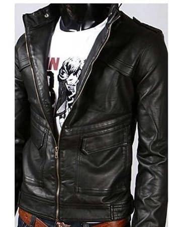 vendite calde giacca pelle uomo elegante giacca biker unico