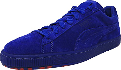 PUMA Men's Suede Classic Iced Rubber Mix Fashion Sneakers, Surf The Web/Rose Red, 9 D - Rose Web
