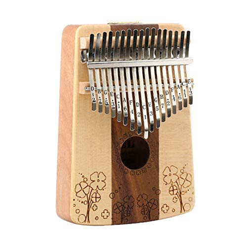 17 Key Kalimba Finger Thumb Piano,Mahogany African 17 Keys Mbira Kalimba Percussion Piano, Keyboard Instrument