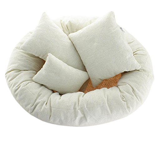GBSELL 4 PC Newborn Photography Basket Filler Wheat Donut Posing Props Baby Pillow -