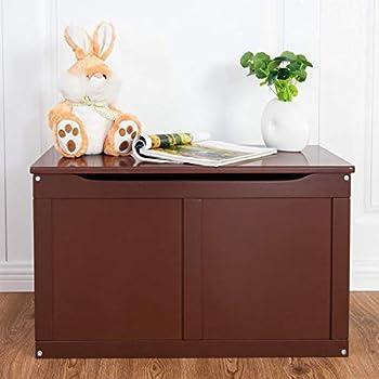Amazon Com Costzon Wooden Toy Box Entryway Sitting Bench