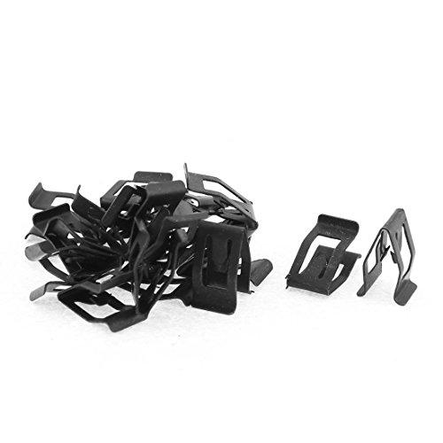 (uxcell 20Pcs Black Auto Car Dash Dashboard Console Trim Metal Retainer)