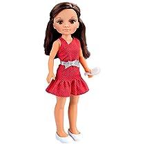 Nancy - Muñeca Un día con Amigas, morena con vestido rojo (Famosa 700013444)