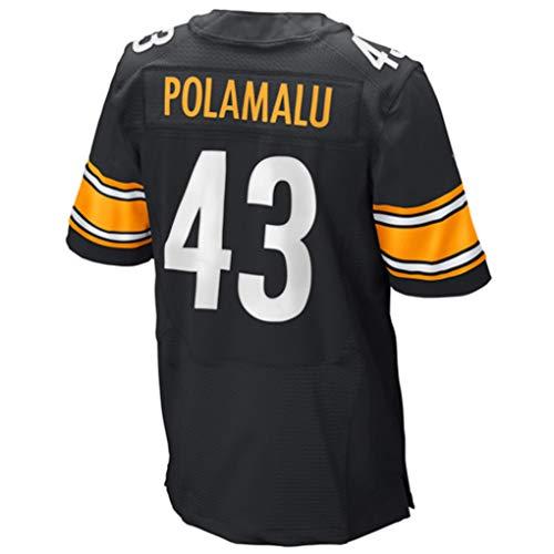 Ouyehcs Troy_Polamalu_Black #43 Fans Jersey Sportswears Football Game Jerseys