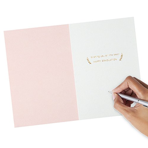 Hallmark Signature Graduation Greeting Card for Female (Pink Gold Class of 2018) Photo #3