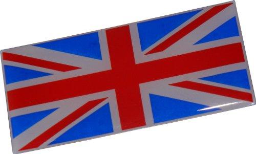 (British Flag Royal UK English England Mod Union Jack Aluminum Emblem Badge Nameplate Decal Rare for Aston Martin Bentley Berkley Bond British Leyland Daimler Jaguar Jensen Lambretta Land Rover Lotus MG Mini Morgan Morris Rolls Royce Triumph TVR Vauxhall Vespa)