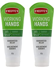 O'Keeffe's Working Hands Hand Cream, Extremely Dry Cracked Hands, Relieves and Repairs, Boosts Moisture Levels, Two 3.0oz/85g Tubes, (Pack of 2) 108509