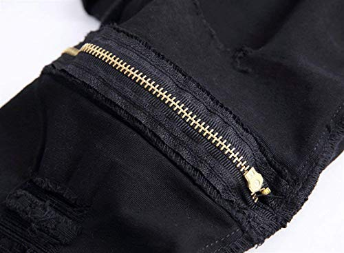 Il Knee Moda Closure Vintage Skinny Per Uomo Strappati Da Pants Tempo Nero Denim Jeans Abbigliamento Alla Hat Libero qwSY1UxOP