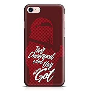 Loud Universe iPhone 8 Case The Walking Dead Case Daryl Michonne They Deserved Tv Show Slim Profile Light weight Wrap Around iPhone 8 Cover