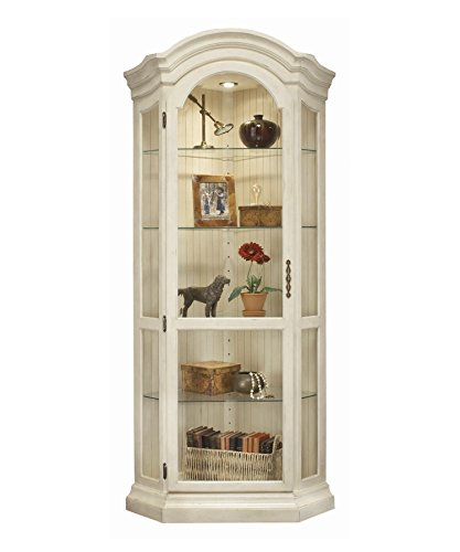 Philip Reinisch Co. Color Time Panorama Display, Sandshell White Corner Curio Cabinet, ()