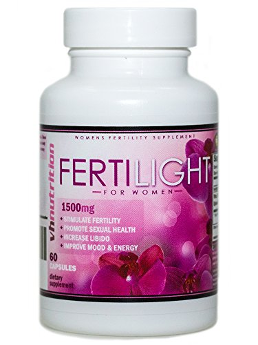 VH Nutrition FertiLight for Women | Female Fertility Pills and Blend Formula | Conception and Pregnancy Supplement Complex - 30 Day Supply - 60 Capsules (Female Fertility)
