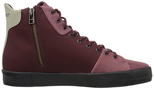 Creative Recreation Mens Carda Hi Mode Sneaker Mörkt Vinröda Svart
