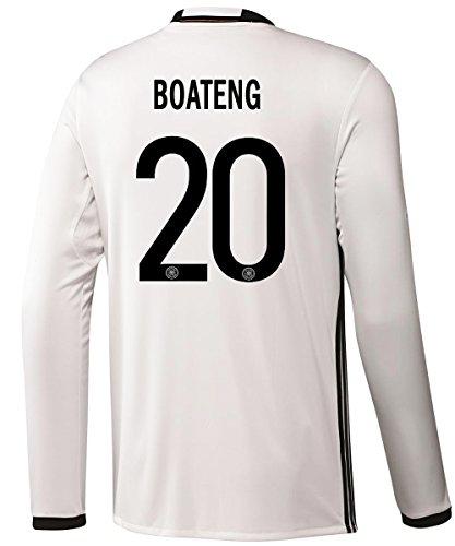 賄賂結婚した故障Adidas BOATENG #20 Germany Home Soccer Jersey Euro 2016 - Long Sleeve (Authentic name and number of player)/サッカーユニフォーム ドイツ 長袖 ホーム用 ボアテング 背番号20 Euro 2016