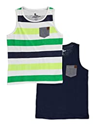 "American Hawk Big Boys' ""Chambray Pop"" 2-Pack Tank Tops"
