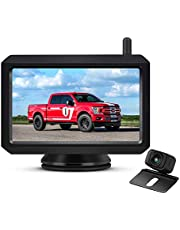 """AUTO VOX W7 Digital Wireless Backup Camera Kit, 5"""" Monitor and -20-65℃ Resistant Stable Images Rear View Camera with Low-Light Night Vision for Cars,Trucks, Trailers and Universal Vehicle"""