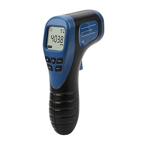 Contagiri laser digitale senza contatto Contagiri motore tachimetro digitale per auto (Colore: blu) Gugutogo