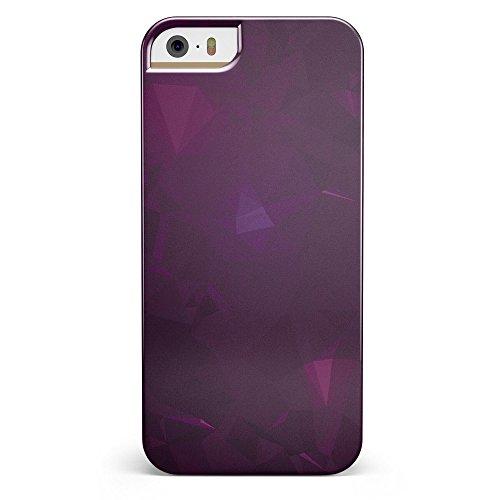 Dark Pink Geometric V16 iPhone 5/5s or iPhone SE - Ultra High Gloss INK-Fuzed Case
