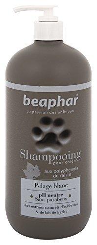 Beaphar - Champú Premium para perros pelaje blanco, 750 ml