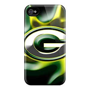 Iphone 4/4s XjK10479VMgG Unique Design Vivid Green Bay Packers Pattern Shock-Absorbing Cell-phone Hard Cover -AaronBlanchette
