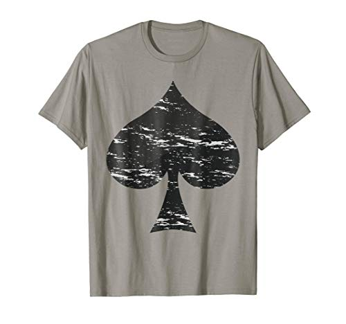 Spades Symbol T-Shirt Poker Pro Lucky Players Winner Costume]()
