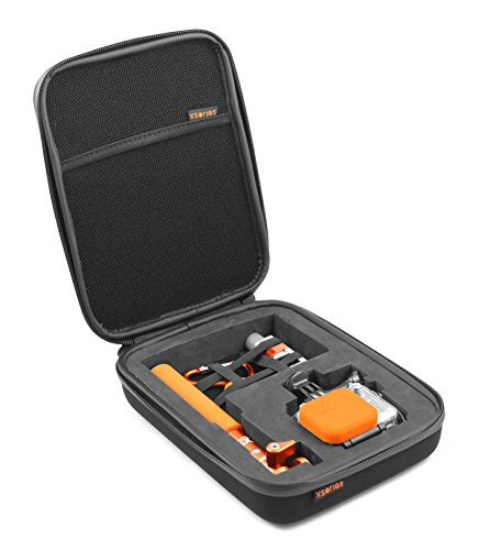 XSories Small Capxule, GoPro Case with Pre-Cut Foam Inlays, Fits All GoPro Housings, GoPro Accessories, GoPro 3, GoPro 3+, GoPro Case 4 (Black)