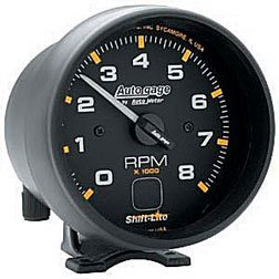 Autometer AutoGage 3 3/4 Tachometer On Dial Shift-Lite 8000 RPM Universal