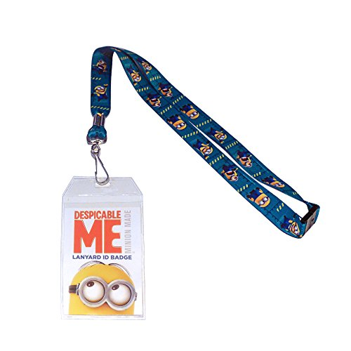Silver Buffalo DM7881H Despicable Me Minions Lanyard with Badge Holder (Despicable Me Best Of Minions)