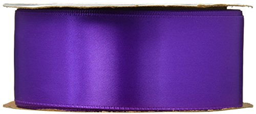 Offray Single Face Satin Craft Ribbon, 1-1/2-Inch by 10-Yard Spool, Purple